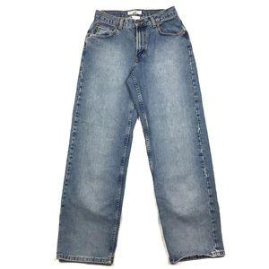 Armani Exchange Cotton Relaxed Straight Leg Jean